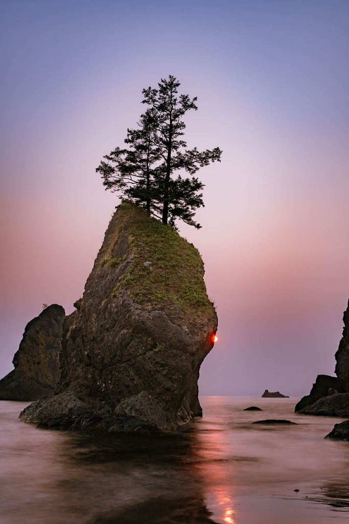 Rock formation along Shi Shi Beach, Olympic National Park
