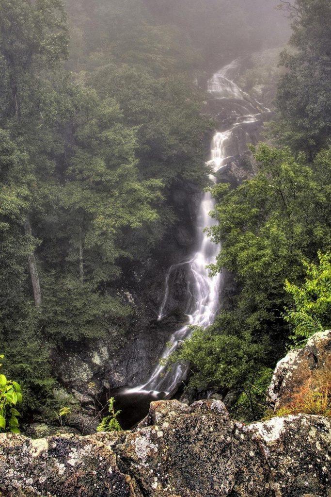 Waterfalls in White Oak Canyon in Shenandoah National Park